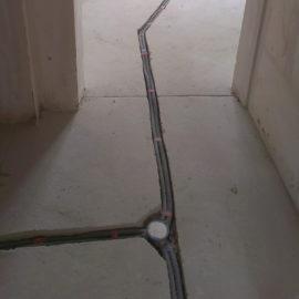 Прокладка провода в гофру