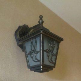 Установка настенного светильника