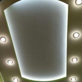 Подсветка уровневого потолка