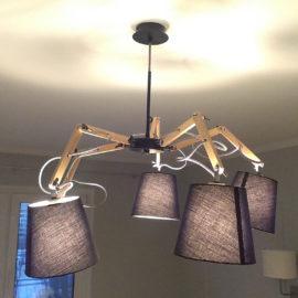 Установка и подключение потолочного светильника